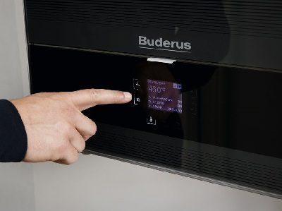 Buderus Gasheizung mit Touch Bedienung