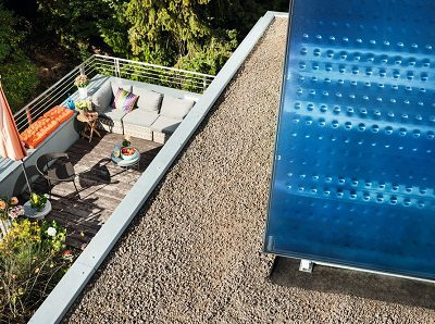 Solar Anlage Flachdachmontage